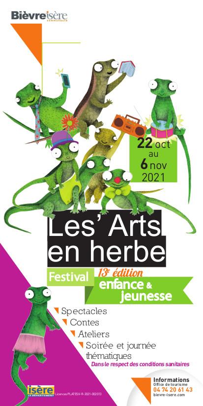 Festival les Arts en Herbe 2021 affiche
